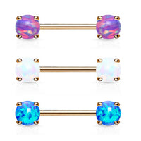 PAIR Synthetic Opal Nipple Rings Shields