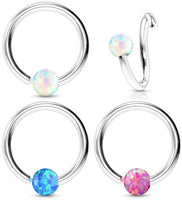 1pc Fixed Opal Captive Bead Ring