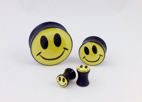 Logo Plugs Smiley Face - PAIR