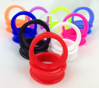 Soft Silicone Tunnels Super Size 32mm thru 50mm - Pair