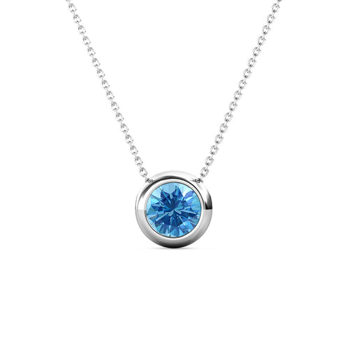 Destiny Moon December/Topaz Birthstone Necklace with Swarovski Crystals