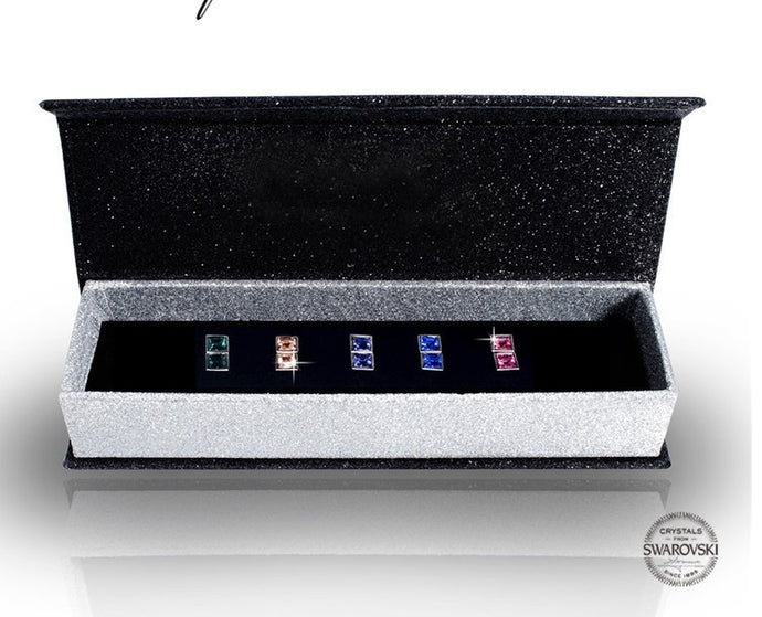 5 pair Nadija earring set embellished with Swarovski Crystals