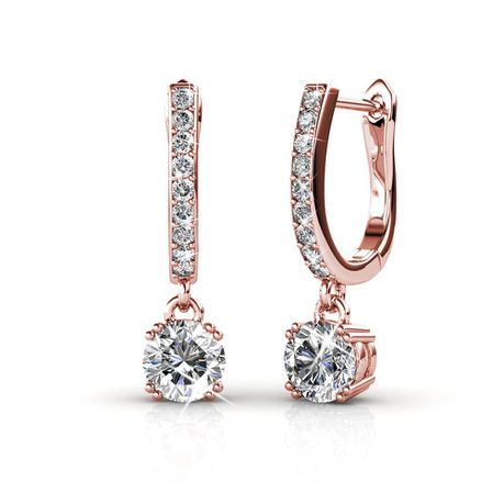 Destiny Alexis Earrings with Swarovski Crystals
