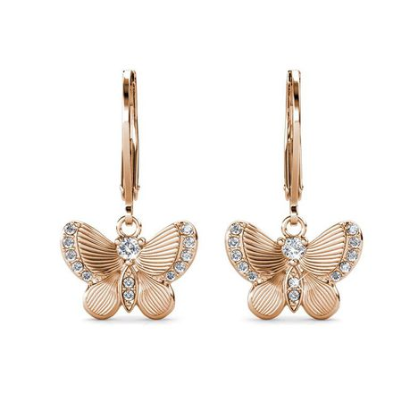 Destiny Butterfly wish earring with Swarovski Crystals - Rose