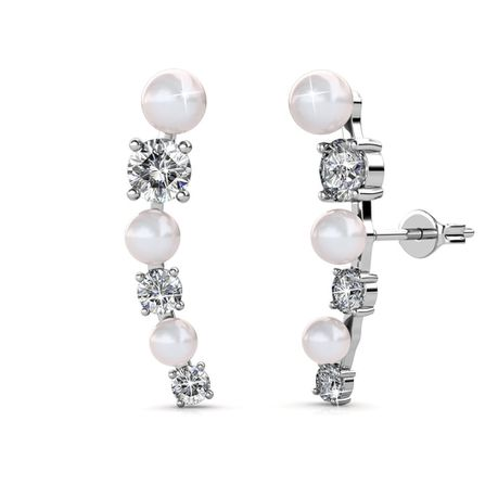 Destiny Ariana Earring with Swarovski Crystal - White