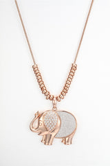 CDE Elephant Necklace embellished with Swarovski Crystals