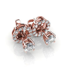 Load image into Gallery viewer, Destiny Sadie Earrings with Swarovski Crystals - Rose