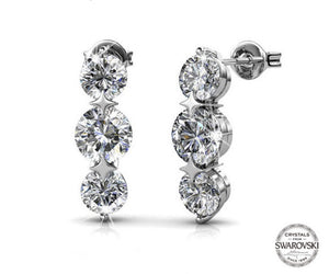 Destiny Jewellery Royalty 5 pair earring set with Swarovski Crystals