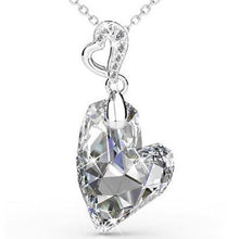 Load image into Gallery viewer, Destiny Amora Drop Heart Necklace with Swarovski Crystals