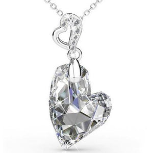 Destiny Amora Drop Heart Necklace with Swarovski Crystals
