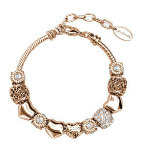 Destiny Ava Charm Bracelet with Swarovski Crystals - Rose Gold