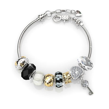 Destiny Madison Black Bracelet with Swarovski Crystal