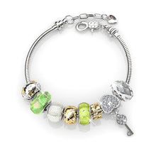 Load image into Gallery viewer, Destiny Madison Green Bracelet with Swarovski Crystal