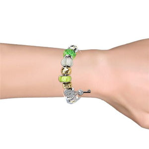 Destiny Madison Green Bracelet with Swarovski Crystal
