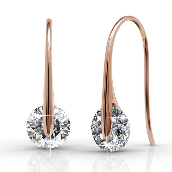 Destiny Hailey Earring with Swarovski Crystal - Rose