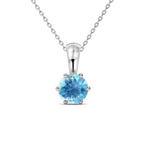 Destiny Aquamarine Necklace with Swarovski Crystal
