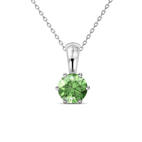Destiny Peridot Necklace with Swarovski Crystal