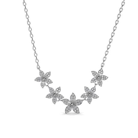 Destiny Kira flower Necklace with Swarovski Crystals