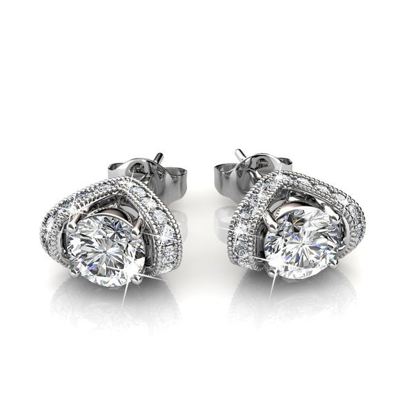 Destiny Eden Earrings with Swarovski Crystals - White
