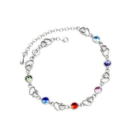 Destiny Amelia Heart Bracelet with Swarovski Crystals