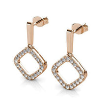 Load image into Gallery viewer, Destiny Aria earring with Swarovski Crystals - Rose