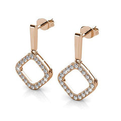 Destiny Aria earring with Swarovski Crystals - Rose