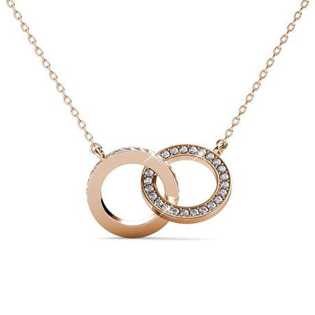 Destiny Mila Necklace with Swarovski Crystals - Rose
