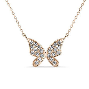 Destiny Butterfly Hope necklace with Swarovski Crystals - Rose
