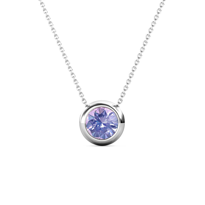 Destiny Moon June/Alexandrite Birthstone Necklace with Swarovski Crystals