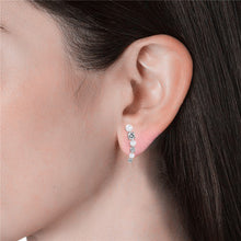 Load image into Gallery viewer, Destiny Ariana Earring with Swarovski Crystal - White