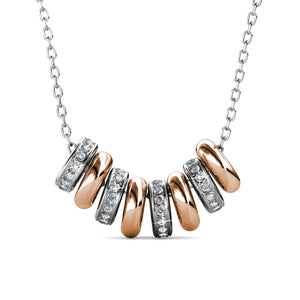 Destiny Beth Halo Necklace with Swarovski Crystals
