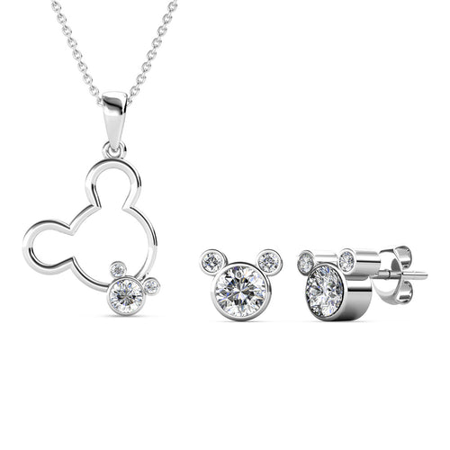Destiny Mickey Mouse Set With Crystals From Swarovski® - Silver