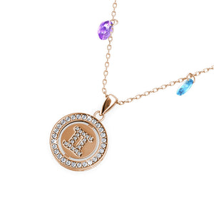 Destiny Gemini Zodiac Necklace with Swarovski Crystals