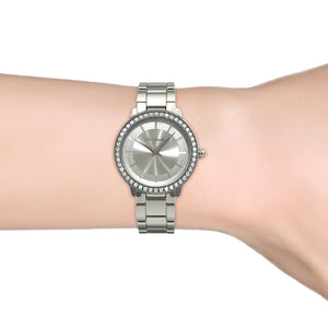 Destiny Jewellery Layla Stainless Steel Watch embellished with Swarovski Elements