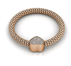 Destiny Jewellery Heart Bracelet embellished with Swarovski Crystals-available in 3 colours