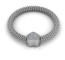 Load image into Gallery viewer, Destiny Jewellery Heart Bracelet embellished with Swarovski Crystals-available in 3 colours
