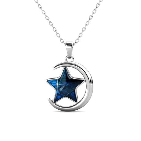 Destiny Starry Moon Necklace with Swarovski Crystals