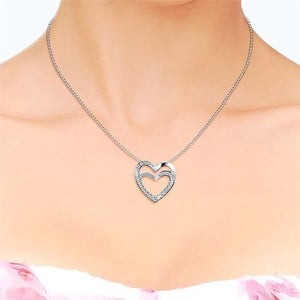Destiny Sapphira Heart Necklace with Swarovski Crystals