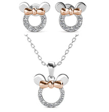 Load image into Gallery viewer, Destiny 925 Minnie Mouse Set with Swarovski Crystals