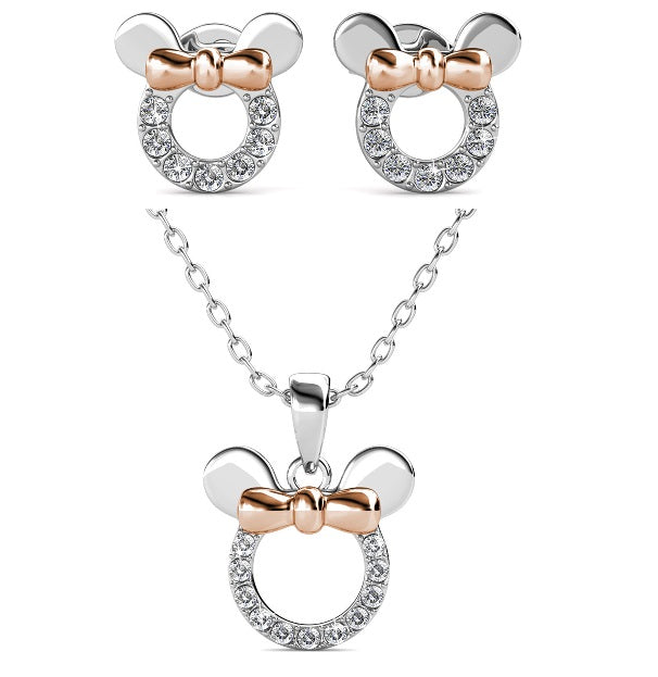 Destiny 925 Minnie Mouse Set with Swarovski Crystals