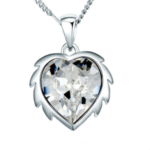 CDE Selene Heart Necklace embellished with Swarovski Crystals