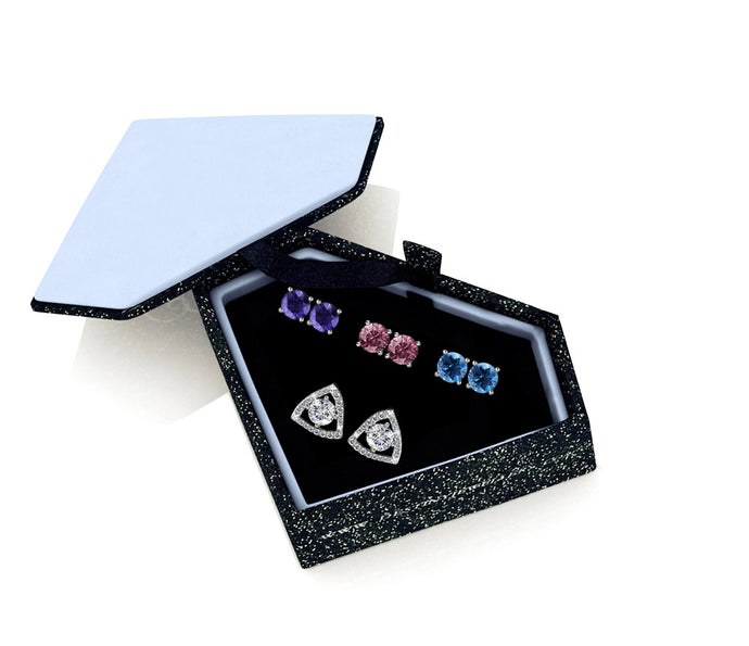 Destiny Naomi 4 Earring Set with Swarovski Crystal