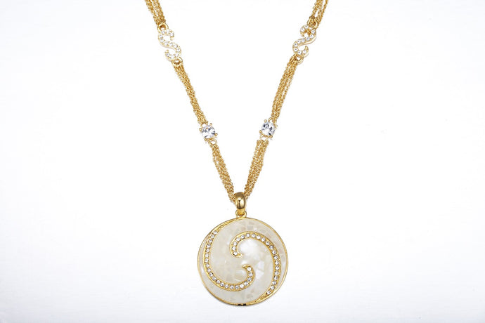 CDE Cosmic Swirl Necklace embellished with Swarovski Crystals
