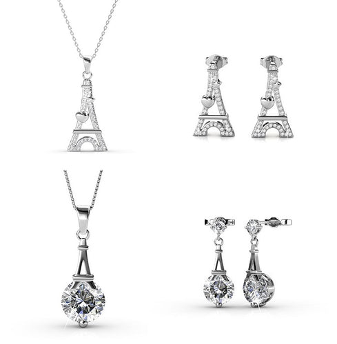 Destiny Paris Necklace & Earring Set with Swarovski Crystals
