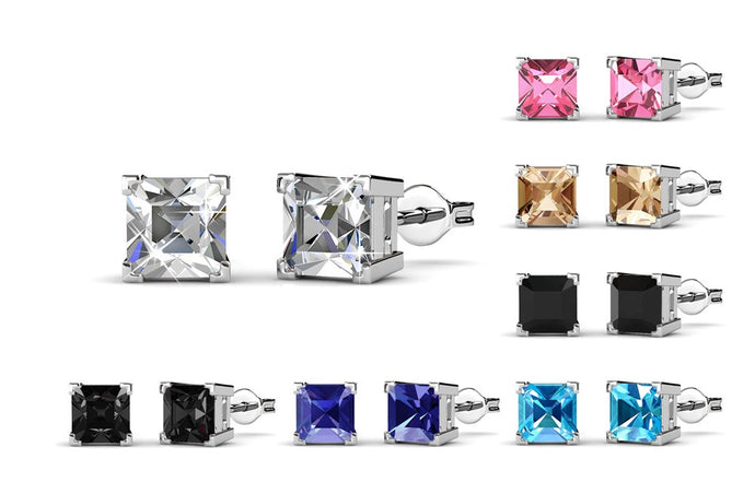 Destiny Quinn Earrings Set with Swarovski Crystals - 7 Pairs