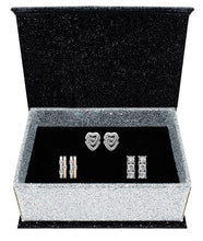 Load image into Gallery viewer, Destiny Jewellery Athena 3 pair earring set embellished with Swarovski crystals