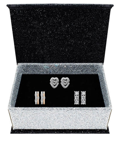 Destiny Jewellery Athena 3 pair earring set embellished with Swarovski crystals