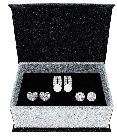 Destiny Jewellery Evelyn 3 pair earring set embellished with Swarovski crystals