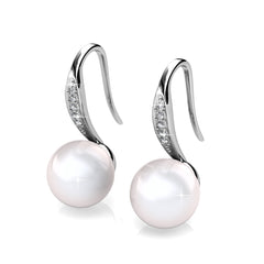 Destiny Jewellery Giselle Pearl Earring embellished with Swarovski crystals