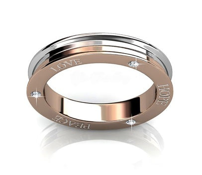 bdc78367f Destiny Jewellery Hope, Love, Peace ring embellished with Swarovski crystals  ...
